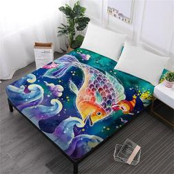 Princess Cartoon Bed <font><b>Sheet</b></font> Colorful Twel