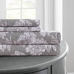 Amrapur Overseas | Printed 4-Piece Microfiber Sheet Set