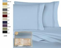 Queen 6 Piece 1800 Count Bed Sheet Set Extra Deep Pocket She
