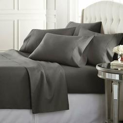 Queen Bed Sheets Egyptian Cotton 1800 Thread Count Deep Pock