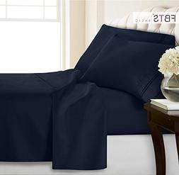 Queen Bed sheets set 4 Piece - 1800 Thread Count Hypoallerge
