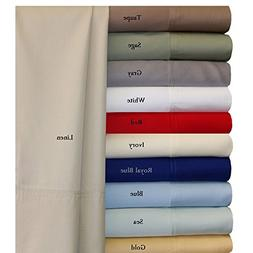 Queen Blue Silky Soft bed sheets 100% Rayon from Bamboo Shee