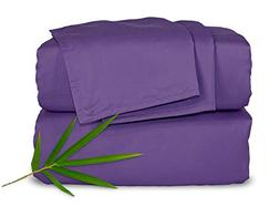 Pure Bamboo Sheets - Queen Size Bed Sheets 4-pc Set - 100% O