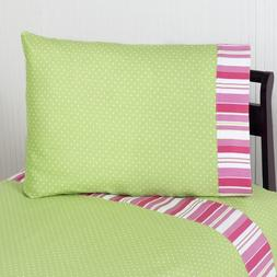 Sweet Jojo Designs 4-Piece Queen Sheet Set for Pink and Gree