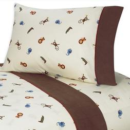 4 pc Queen Sheet Set for Jungle Time Bedding Collection by S