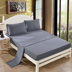Queen Size Bed Sheet Set - 1800 Series Platinum Collection -