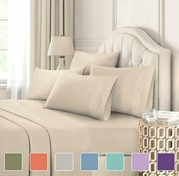 Queen Size Sheet Set - 6 Piece Set - Hotel Luxury Bed Sheets