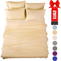 SONORO KATE Bed Sheets Super Soft Microfiber 1800 Thread Cou