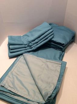 Queen Sheets Qvc Sheets  600TC Easy Care Reversible Sea Mist