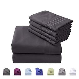 Emonia Queen Sheets Set ❤️ 6 pieces Bed Sheets-Microfibe