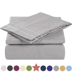 TEKAMON Queen Size 4 Piece Bed Sheet Set 1800 Bedding 100% M