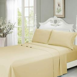 "Queen Size Bed Sheet Set 6 PCS 18""Deep Pocket Ultra Soft Coo"