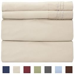 Queen Size Sheet Set - 4 Piece Set - Hotel Luxury Bed Sheets