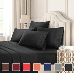 Queen Size Sheet Set 6 Piece Set Hotel Luxury Bed Sheets Ext