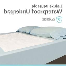 Quilted Waterproof Mattress Overlay Pad - Extra Large Flat 3