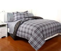Queen Size Comforter Set with Sheets Reversible Bedding Bed