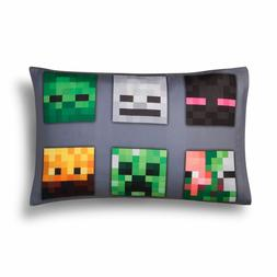 Minecraft Reversible Pillowcase Standard Size Twin Full Quee
