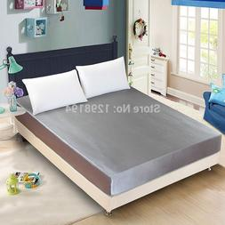 satin silk bed fitted font b sheet