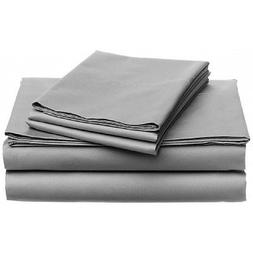 Lavish Home 1200 4-Piece Sheet Set, Queen, Silver