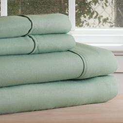Lavish Home 1200 4-Piece Sheet Set, Queen, Sage