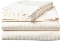 Crafts Linen 6 Piece Sheet Set- 100% Natural Cotton 400 TC F
