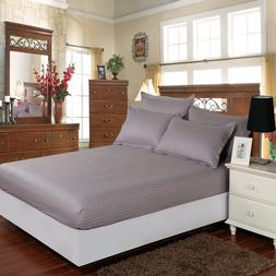 SMN satin Cotton Fitted <font><b>Sheet</b></font> Hotel Bed