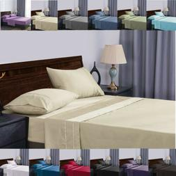 Soft Bed Sheets Egyptian Cotton 1800 Thread Count Deep Pocke