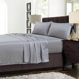 Soft Brushed Microfiber Wrinkle Fade Stain Resistant 4-Piece