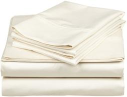 Brand New Solid Ivory 1200 Thread Count 100% Egyptian Cotton