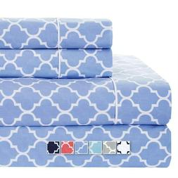 Split Queen Sheets Meridian 100% Cotton 5 PC Sheet Set For A
