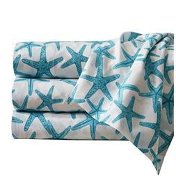 Starfish Sheet Set with Deep Fitting Pockets, Teal and White