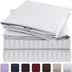Mellanni Striped Bed Sheet Set Brushed Microfiber 1800 Beddi
