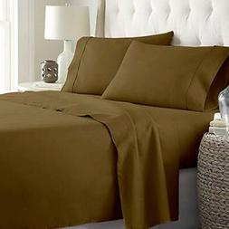 aashirainwear Taupe Solid Queen Size Ultra Soft Natural 4 PC