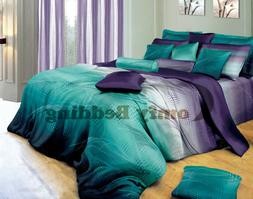twilight design luxury 100% cotton bedding set: duvet cover