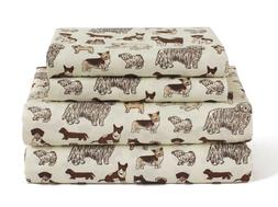 Twin, Full, Queen or King Dog Sheet Set Microfiber Puppy Pet
