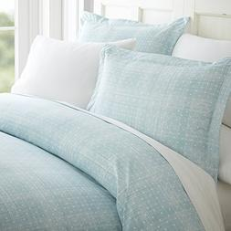 Simply Soft Ultra Soft Thatch Patterned 3 Piece Duvet Cover