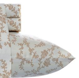 Laura Ashley Victoria Sheet Set, Queen, Taupe