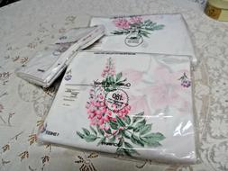 Vintage JC Penney 2 Queen Sheets and 2 Pillowcases NIP Flora