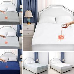 Water Resistant Mattress Protector Bed Pad Cover Fitted Shee