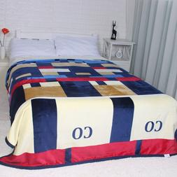 Winter Thick high quality soft Big Size Flannel Bed Blankets