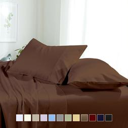 Wrinkle Free Solid Luxury Soft Sheet Set Deep Pocket Double